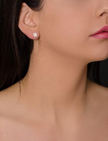 Silver stud earrings Αriela