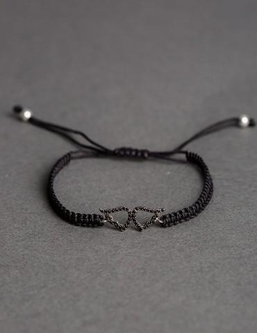 Αngelina black bracelet