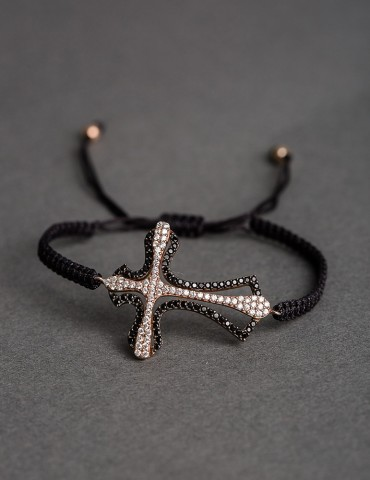 Selina black bracelet with...