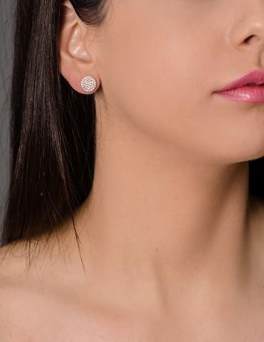Silver stud earrings Αdele
