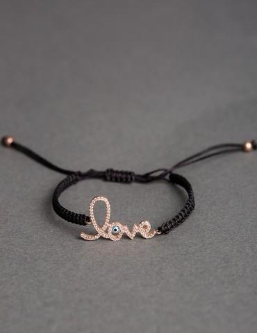 Βlack bracelet Love with...