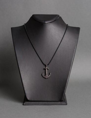 Βlack chain necklace with...