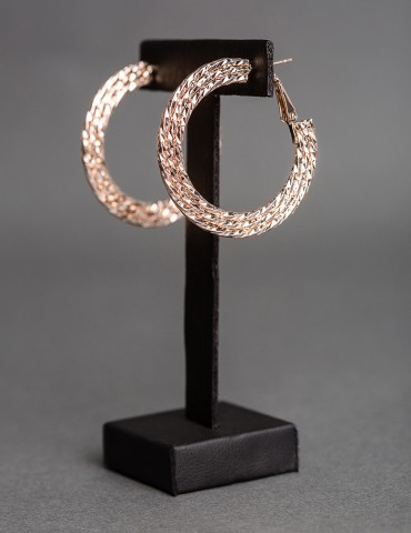 Rose gold embossed hoop...