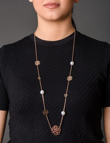 Rose Gold necklace Εlodie