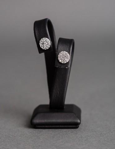 Silver round stud earrings...