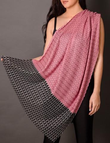 Ρink lace shawl