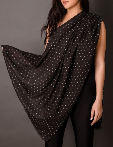 Βlack shawl with silver...