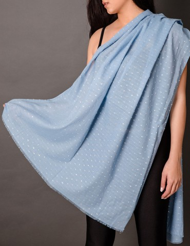 Loght blue shawl with...
