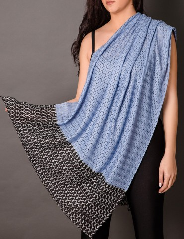 Light blue lace shawl