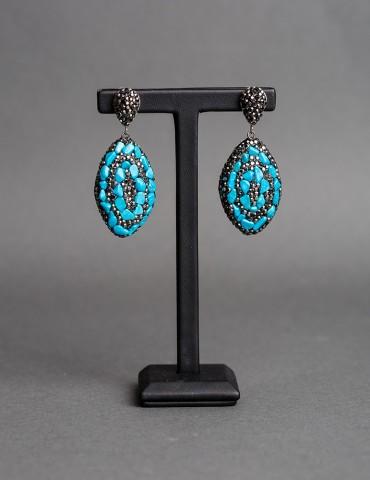 Drop earrings with black...