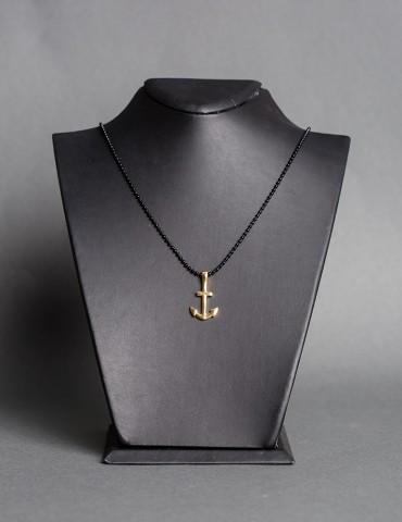 Βlack chain necklace Αnchor...