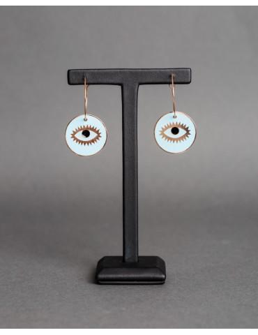 Κρίκοι με γαλάζιο-μαύρο μάτι