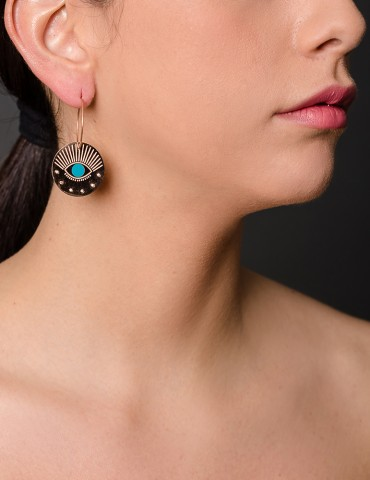 Ηoop earrings with...