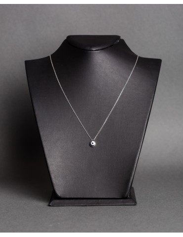 silver chain necklace with...
