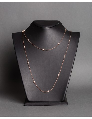 Rose gold long necklace...