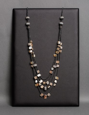 Layering long necklace with...