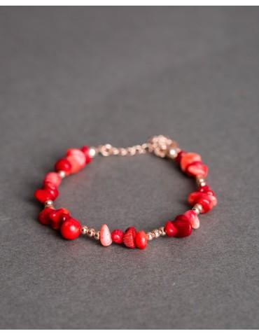 Rose gold coral bracelet