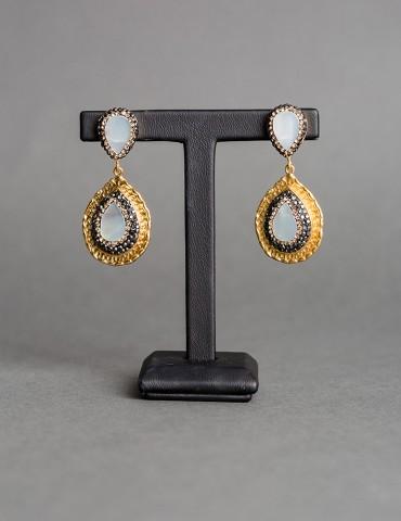Κρεμαστά χρυσά σκουλαρίκια...