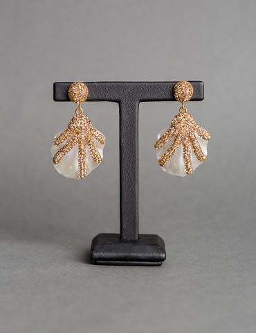 Drop sea shell earrings