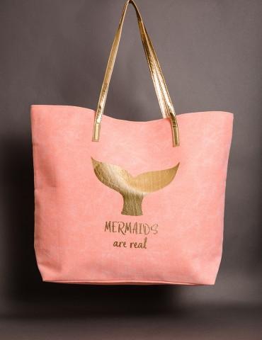 Υφασμάτινη τσάντα με γοργόνα