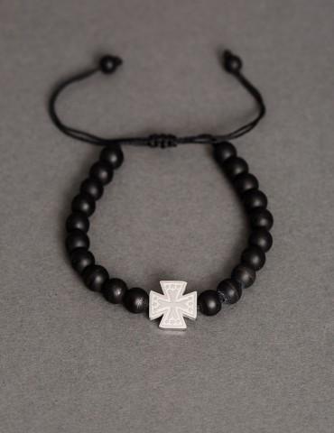 Βραχίολι με ασημί σταυρό