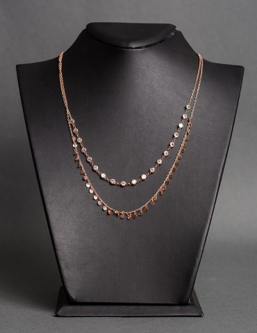 Rose gold layering necklace...