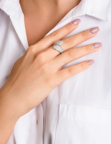 Lucia silver ring