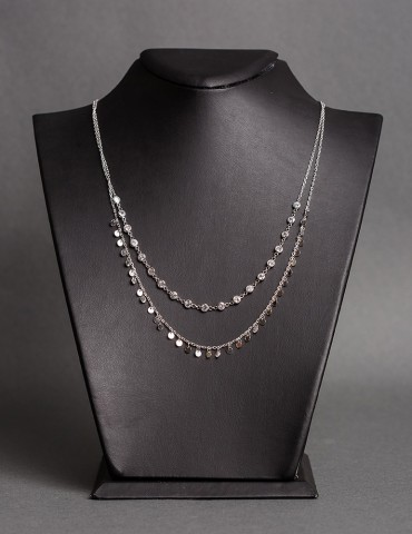 Silver layering necklace...