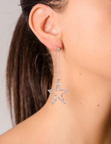 Stellina silver drop earrings
