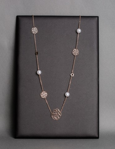 Rose gold long chain...