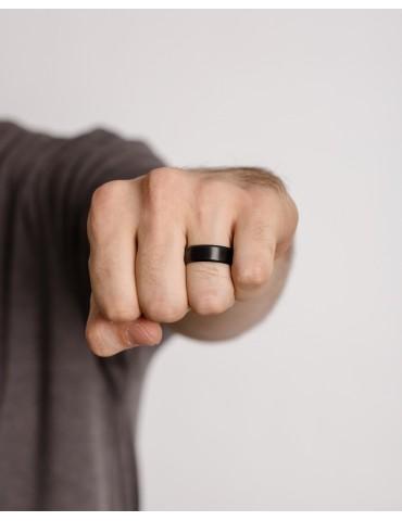 Αlberto black silver ring