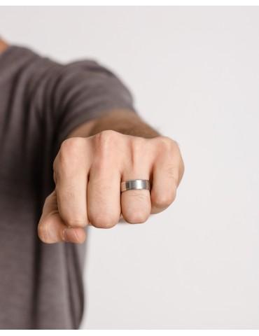 Carlo silver ring